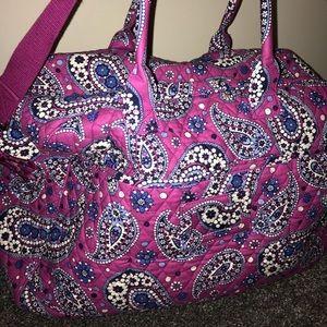 Pink and purple VERA BRADLEY weekend bag